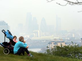 The study found London, one of the worst offenders, had the same amount of pollution as Eastbourne