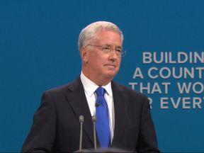 UK Defence Secretary Sir Michael Fallon