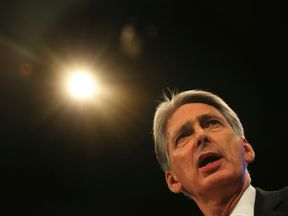 Chancellor Philip Hammond speaks at the Conservative Party's conference in Manchester