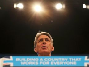 Chancellor Philip Hammond speaks at the Conservative Party conference