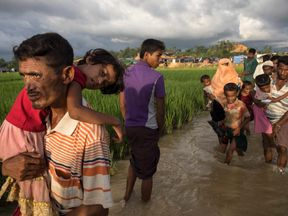 Aid agencies say several thousand Rohingya are still arriving in Bangladesh every day