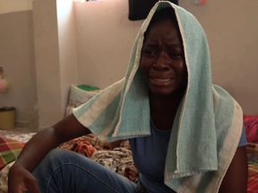 This woman says she had been flogged and begged for help