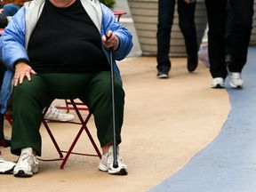 An overweight person