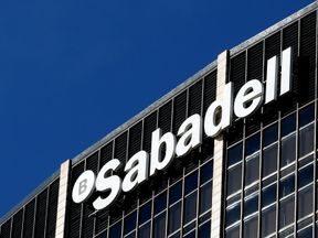Sabadell bank's headquarters is seen in Barcelona, Spain, October 5, 2017
