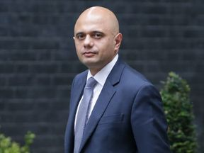 Britain's Communities and Local Government Secretary Sajid Javid