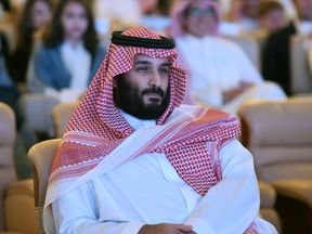 Saudi Crown Prince Mohammed bin Salman attends the Future Investment Initiative conference