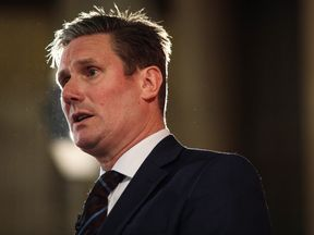 LONDON, ENGLAND - APRIL 25: Shadow Secretary of State for Exiting the European Union Keir Starmer delivers a speech on Labour's Brexit policy at the Institute of Civil Engineers on April 25, 2017 in London, England. Labour today outlined its plan for Brexit, which includes guaranteeing the the rights of EU workers in the UK, ahead of the June 8 general election. (Photo by Jack Taylor/Getty Images)