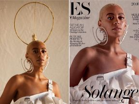 Solange Knowles with extra hair - and without. Pics: Instagram