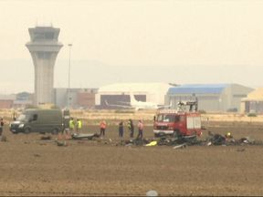 The scene of the crash