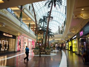 The incident took place at the Trafford Centre on Saturday at about 8.15pm