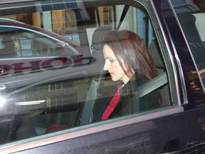 Victoria Cilliers leaves court after giving evidence in the trial of husband Emile Cilliers