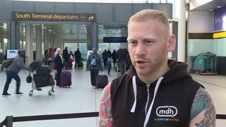 Sam Jones talks to Sky News as his mum's wedding is disrupted by Monarch's collapse