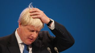 Boris Johnson delivers his speech to the Conservative Party conference