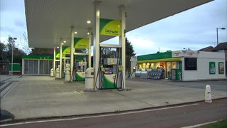 A BP petrol station