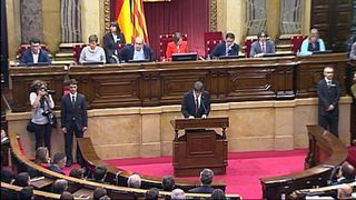 Carles Puigdemont addresses Catalans