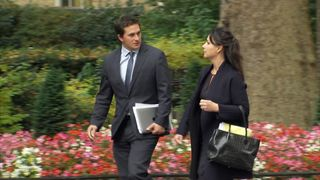 Tory MPs Heidi Allen and Jonny Mercer in Downing Street