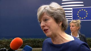 Theresa May reiterates the UK's desires for a strong relationship with the EU