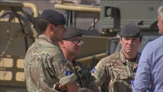 Soldiers from the Queen's Dragoon Guards who helped victims of the Las Vegas shooting