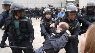 Violent scenes in Catalonia