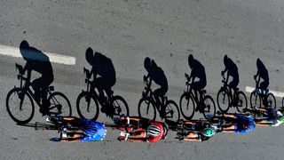 Cyclists compete during Stage 1 of the 53rd Presidential Cycling Tour of Turkey 2017, Alanya to Kemer