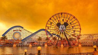 Disneyland as wildfires rage in California. Pic: @KENNYA.BOULTER/Kennya Boulter via REUTERS