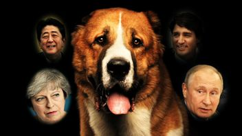 Which world leader is a real dog-lover at heart?