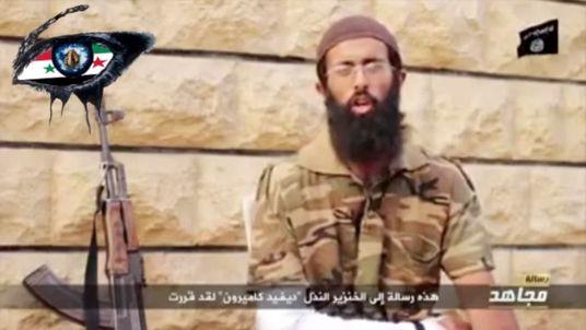 Abu Sa'eed al Britani said he missed his mum's cooking in Syria