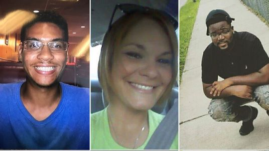 Anthony Naiboa, Monica Hoffa and Benjamin Mitchell have all been shot and killed in the same Tampa neighbourhood. Pic: Tampa PD