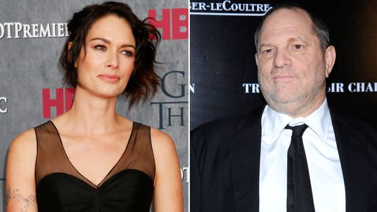 Lena Headey and Harvey Weinstein
