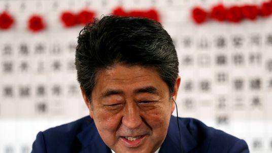 Mr Abe has taken a tough stance on North Korea