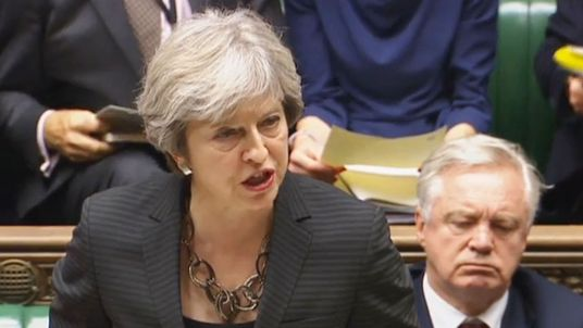 Prime Minister Theresa May makes a statement to MPs in the House of Commons, London, on last week's European Council summit. PRESS ASSOCIATION Photo. Picture date: Monday October 23, 2017. See PA story POLITICS Brexit. Photo credit should read: PA Wire