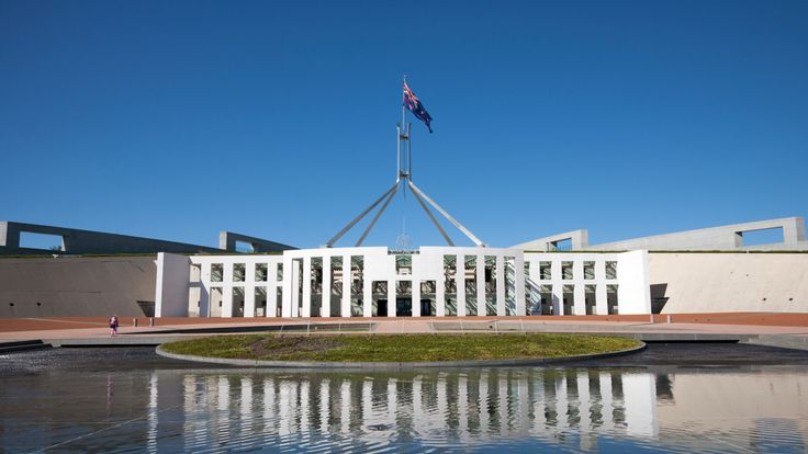 The Australian parliament building in Canberra