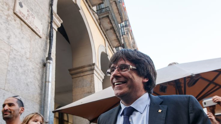 Mr Puigdemont has been accused of 'causing an institutional crisis'