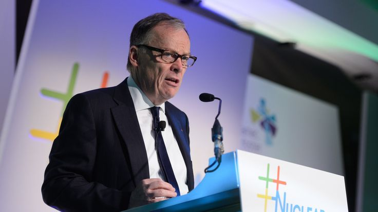 Chief executive of EDF UK Vincent de Rivaz addresses delegates at the 'Nuclear: Powering the UK' conference in central London on December 4, 2014. AFP PHOTO / LEON NEAL (Photo credit should read LEON NEAL/AFP/Getty Images)