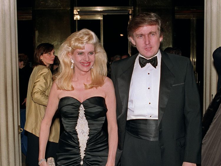 Ivana Trump and Donald Trump in December 1989