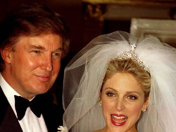 Donald Trump married his second wife Marla Maples in December 1993