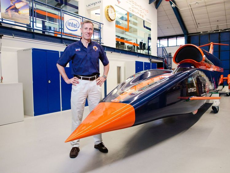 Bloodhound supersonic vehicle on display during test