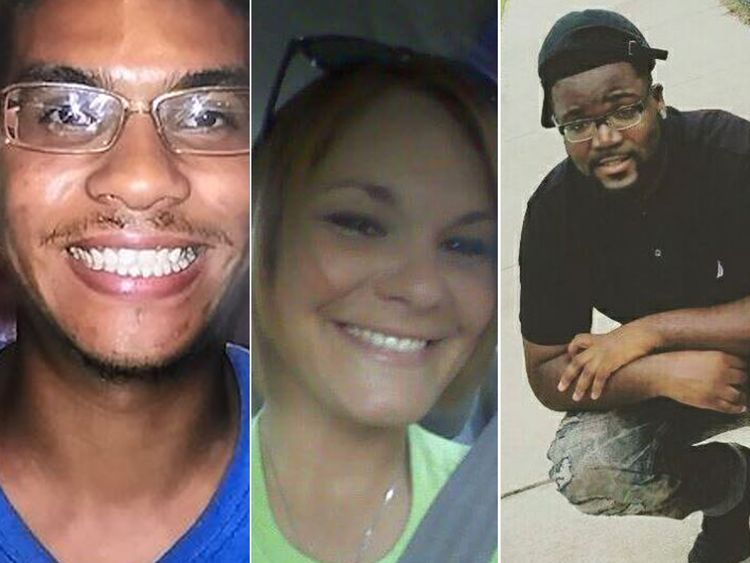 Anthony Naiboa Monica Hoffa and Benjamin Mitchell have all been shot and killed in the same Tampa neighbourhood. Pic Tampa PD