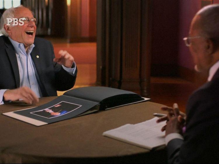 Senator Bernie Sanders was tickled pink