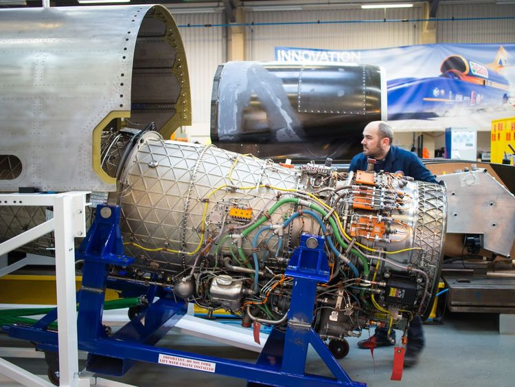 A man working on Bloodhound SSC. Pic: Bloodhound SSC
