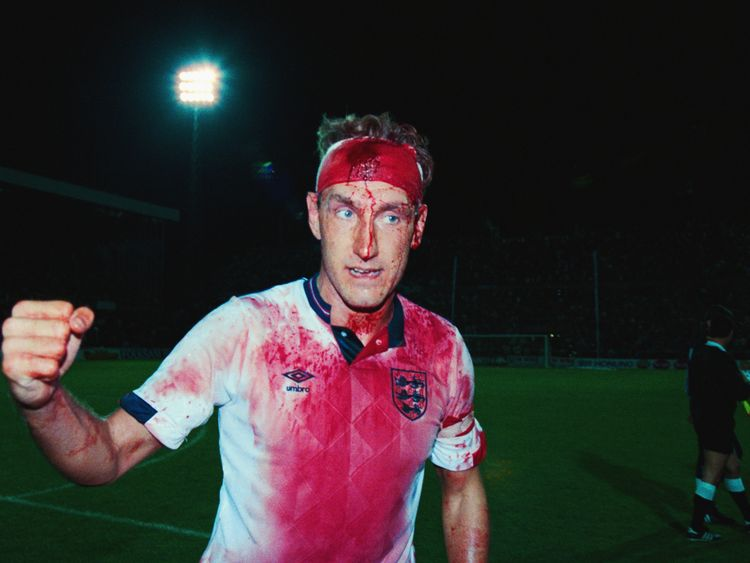As a player Terry Butcher was known for being a tough player. He is pictured here in 1989