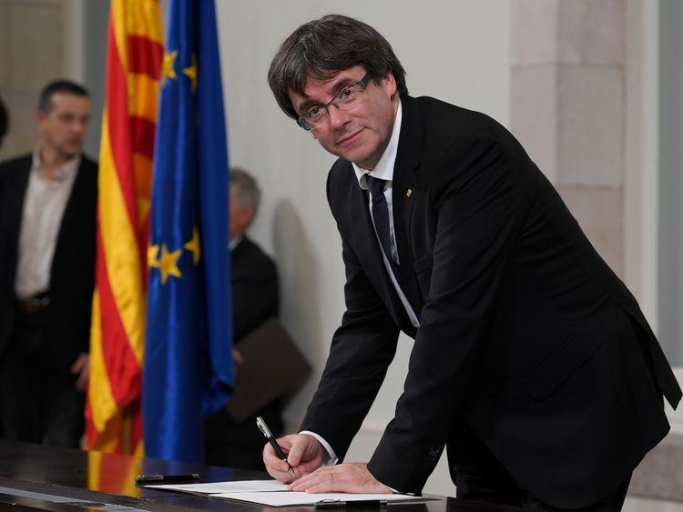 Catalan regional government president Carles Puigdemont