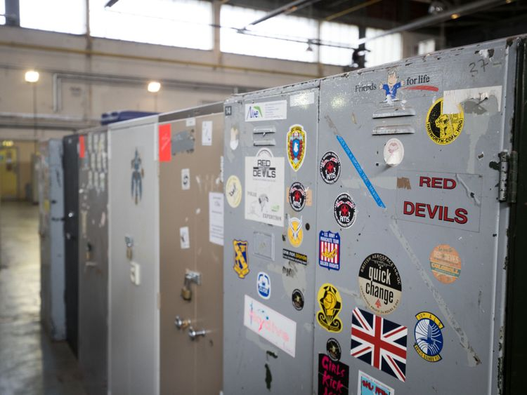 The airfield locker where the parachute was stored