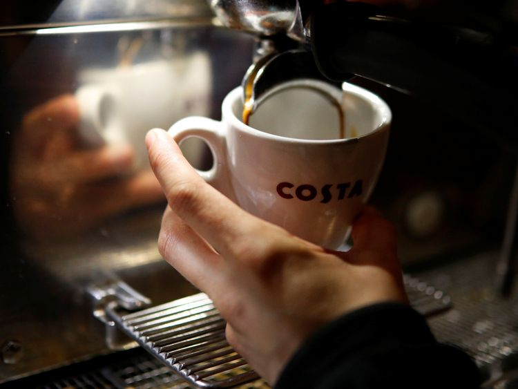 Costa Coffee to split from Whitbread