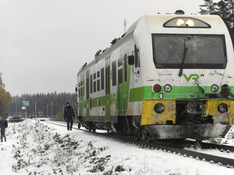 Deaths in Finland train and army lorry crash