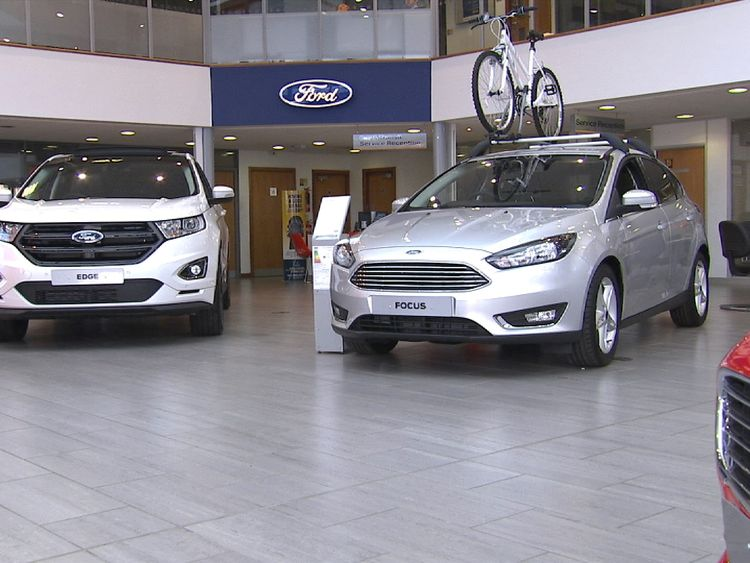 Ford sells the many renouned automobile in the UKs new automobile market