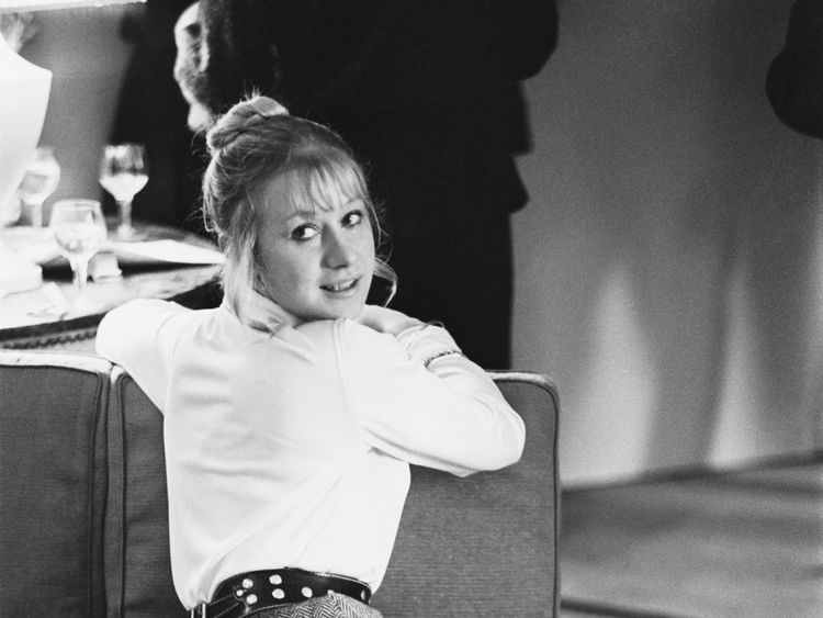 English thespian Helen Mirren during a promotional accepting for Age of Consent, a film she stars in with James Mason, 1969. (Photo by Len Trievnor/Daily Express/Hulton Archive/Getty Images)
