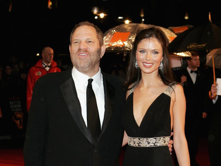 Harvey Weinstein and his wife Georgina Chapman pictured before they were married in 2006