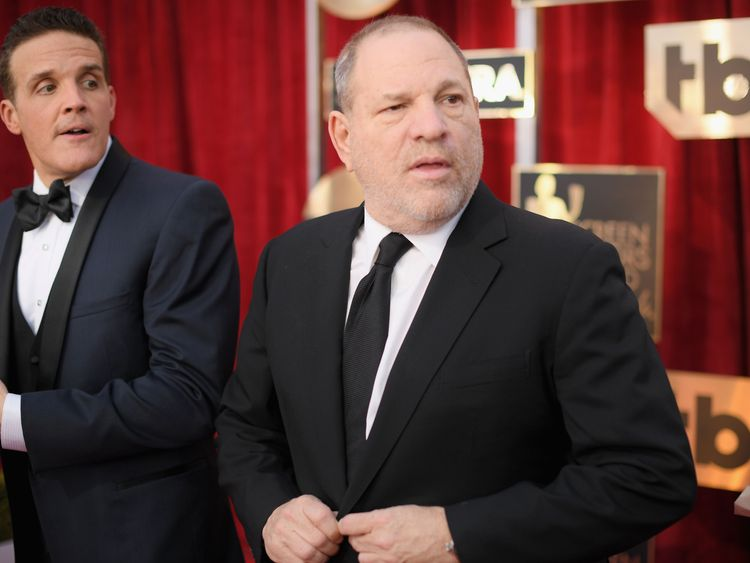 LOS ANGELES, CA - JANUARY 29: Producer Harvey Weinstein attends The 23rd Annual Screen Actors Guild Awards at The Shrine Auditorium on January 29, 2017 in Los Angeles, California. 26592_009 (Photo by Dimitrios Kambouris/Getty Images for TNT)