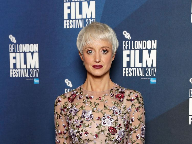 Andrea Riseborough, at a recent UK film awards